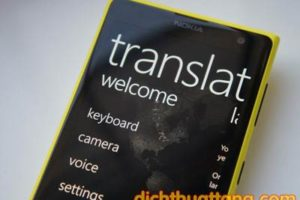 Dịch vụ dịch thuật ứng dụng