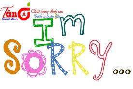 Cách nói xin lỗi trong tiếng anh